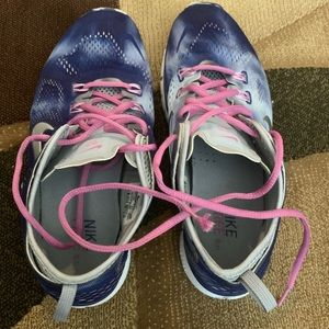 Nike TR Free 5.0 Training Shoes. Blue/Pink/Silver